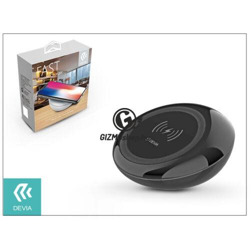 Devia Qi univerzális vezeték nélküli töltő állomás – 5V/2A – Devia Fast Wireless Charger – black – Qi szabványos