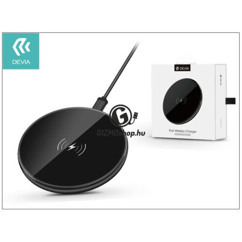 Devia Qi univerzális vezeték nélküli töltő állomás – 5V/1A – Devia Aurora Wireless Charger – black – Qi szabványos