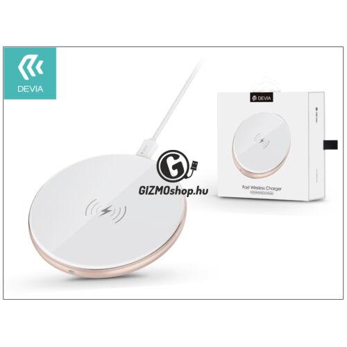 Devia Qi univerzális vezeték nélküli töltő állomás – 5V/1A – Devia Aurora Wireless Charger – white – Qi szabványos