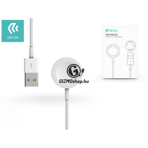 Devia Watch mágneses indukciós töltőkábel – Devia Smart for Watch Magnetic Charging Cable – white