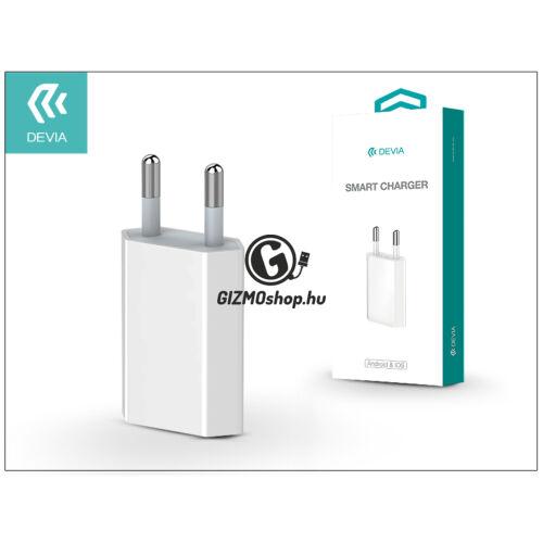 USB hálózati töltő adapter – Devia Smart Charger – 5V/1A – white