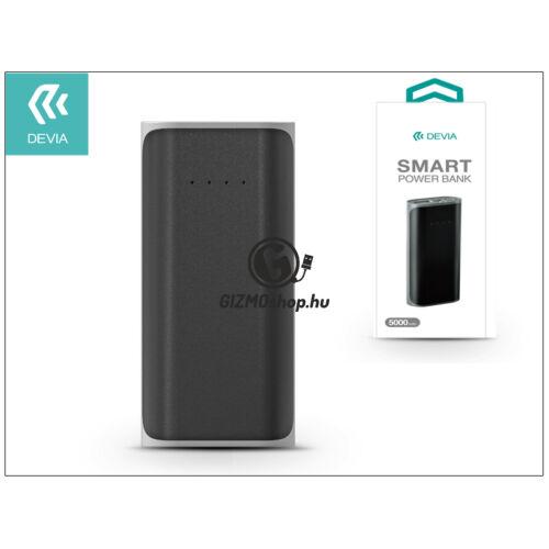 Univerzális hordozható, asztali akkumulátor töltő – Devia Smart Power Bank – 5000 mAh – black/grey