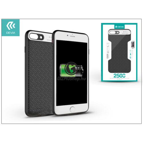 Apple iPhone 7 újratölthető akkumulátoros hátlap – Devia Extra Power Rechargeable Battery Case – 2500 mAh – black
