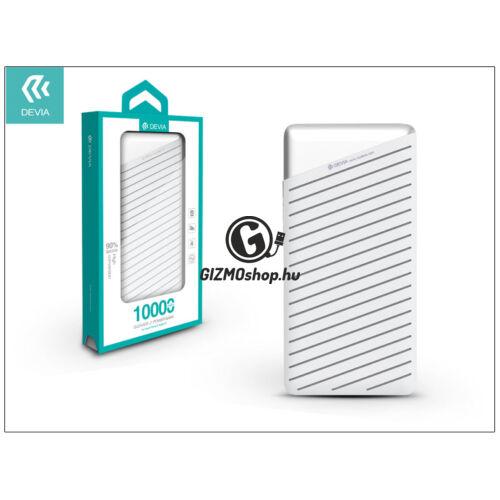 Univerzális hordozható, asztali akkumulátor töltő – Devia Elegant J1 2xUSB 2.4A Power Bank – 10.000 mAh – white