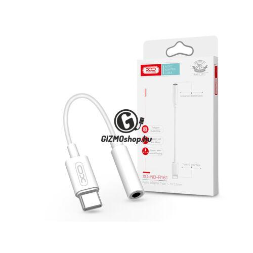 XO Type-C – 3,5 mm jack audio adapter – XO NB-R161 Audio Adapter Type-C to 3.5 mm jack – fehér