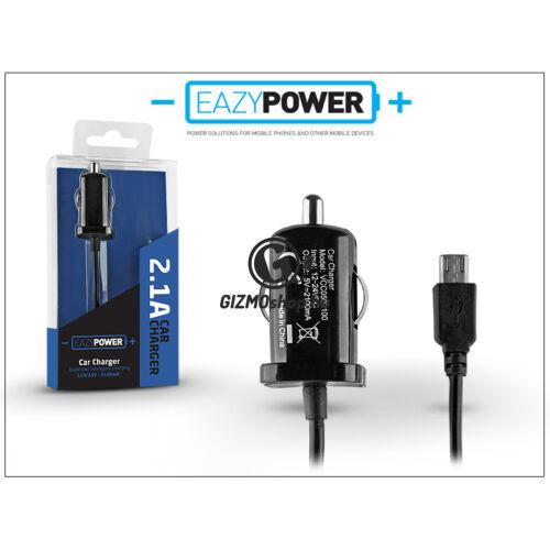 Micro USB szivargyújtós gyorstöltő 140 cm-es kábellel – Eazy Power – 5V/2,1A