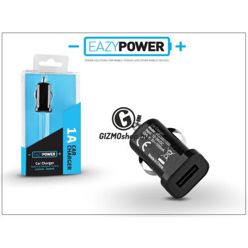 Univerzális USB szivargyújtós töltő adapter – Eazy Power – 5V/1A – fekete