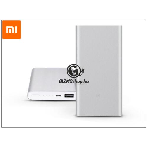 Univerzális hordozható, asztali akkumulátor töltő – Xiaomi Mi Power Bank 2 QC 2.0 – 10.000 mAh – ezüst