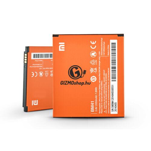 Xiaomi Redmi 1/Redmi 1S gyári akkumulátor – Li-polymer 2050 mAh – BM41 (ECO csomagolás)