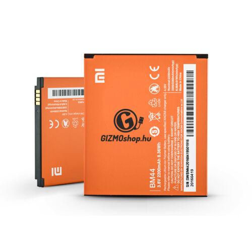 Xiaomi Redmi 2/Redmi 2A/Redmi 2 Pro gyári akkumulátor – Li-polymer 2200 mAh – BM44 (ECO csomagolás)
