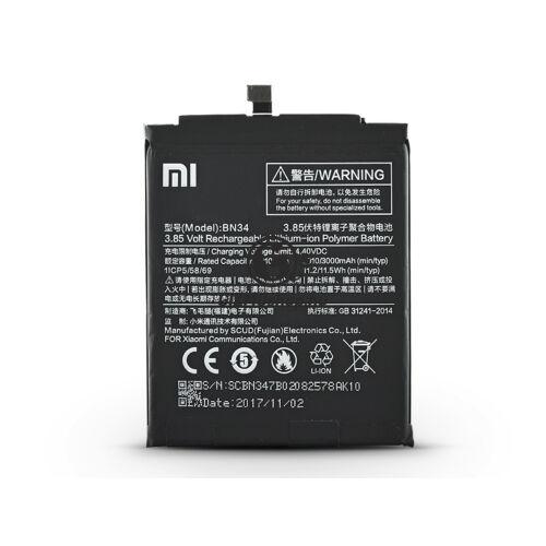 Xiaomi Redmi 5A gyári akkumulátor – Li-polymer 3000 mAh – BN34 (ECO csomagolás)