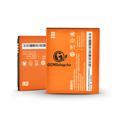 Xiaomi Redmi Note 2 gyári akkumulátor – Li-polymer 3060 mAh – BM45 (ECO csomagolás)